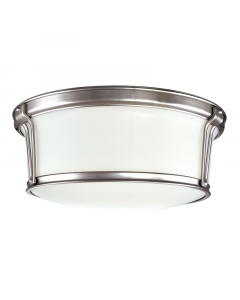 Hudson Valley Lighting Large Newport Traditional Ceiling Flush Mount  Available in Nickel, Brass, Bronze