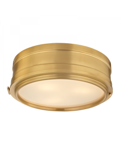 Hudson Valley Lighting Large Rye Three Light Ceiling Flush Mount or Porthole Sconce  Available in Nickle, Bronze, Brass