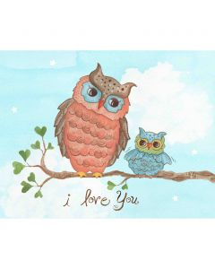 I Love You Owl Wall Art for Babies