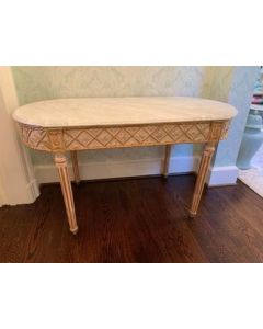Antique: Late 19th Century Gilt Carved Wood Table with Marble Top