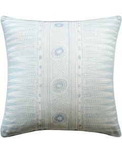 Indian Motif Decorative Throw Pillow in Aqua – Available in Different Sizes