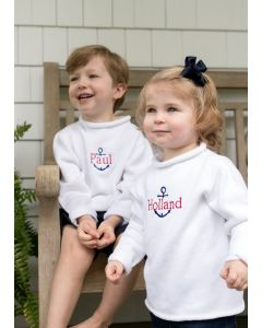Jersey Rollneck Sweater for Kids in a Variety of Colors - Can be Personalized