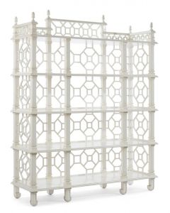 Chinese Chippendale Carved Fretwork Bookcase - LOW STOCK