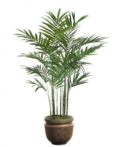 Large Faux King Palm with Pot Options