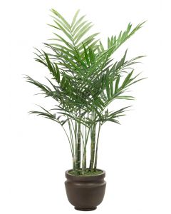 Medium Faux King Palm with Pot Options