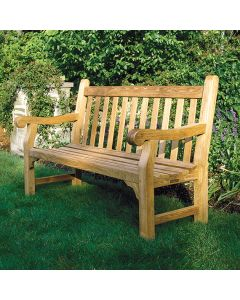 Kingsley Bate 5 Foot Hyde Park Bench with Optional Cushion - ON BACKORDER UNTIL EARLY MARCH 2022