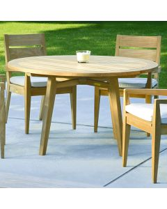Kingsley Bate Algarve Outdoor Round Teak Dining Table - Available in Two Sizes - ON BACKORDER UNTIL LATE MARCH 2022