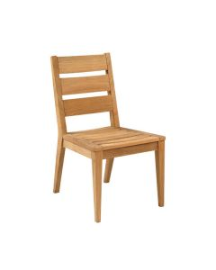 Kingsley Bate Algarve Outdoor Teak Dining Side Chair with Optional Cushion - ON BACKORDER UNTIL LATE MARCH 2022