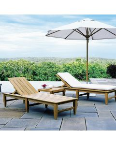 Kingsley Bate Amalfi Outdoor Chaise Lounge with Wheels - ON BACKORDER UNTIL LATE MARCH 2022