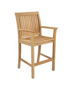 Kingsley Bate Chelsea Outdoor Bar Chair with Arms - ON BACKORDER UNTIL EARLY MARCH 2022