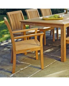 Kingsley Bate Chelsea Outdoor Dining Armchair - ON BACKORDER UNTIL LATE FEBRUARY 2022