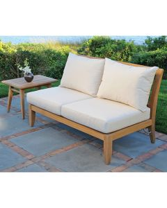 Kingsley Bate Ipanema Outdoor Teak Sectional Armless Settee - ON BACKORDER UNTIL EARLY MARCH 2022