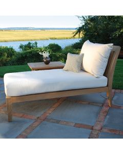 Kingsley Bate Ipanema Outdoor Teak Sectional Chaise - ON BACKORDER UNTIL LATE FEBRUARY 2022