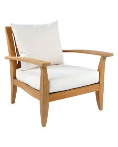 Kingsley Bate Ipanema Outdoor Teak Lounge Chair with Optional Ottoman - ON BACKORDER UNTIL EARLY MARCH 2022