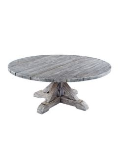 Kingsley Bate Provence Round Coffee Table in Grey Finish  - ON BACKORDER UNTIL LATE MARCH 2022