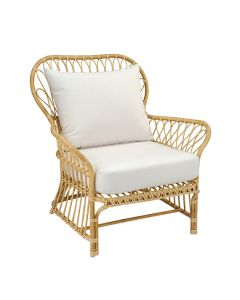 Kingsley Bate Savannah Classic Rattan Outdoor Lounge Chair with Cushion - ON BACKORDER UNTIL EALY MARCH 2022