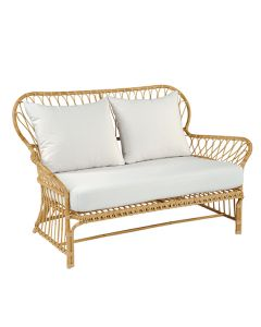 Kingsley Bate Savannah Classic Rattan Outdoor Settee with Cushion - ON BACKORDER UNTIL LATE FEBRUARY 2022