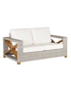 Kingsley Bate Jupiter Outdoor Settee in Two Different Colors - ON BACKORDER UNTIL LATE FEBRUARY 2022