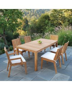 Kingsley Bate 73'' Tuscany Outdoor Rectangular Dining Table in Two Finishes - ON BACKORDER UNTIL MARCH 2022