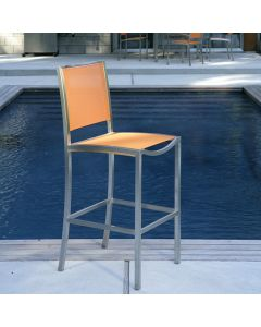 Kingsley Bate Tiburon Outdoor Stainless Steel Bar Chair in Variety Colors