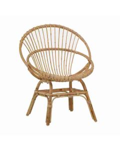 Round Natural Rattan Cane Accent Chair - LOW STOCK - CALL TO CONFIRM AVAILABILITY