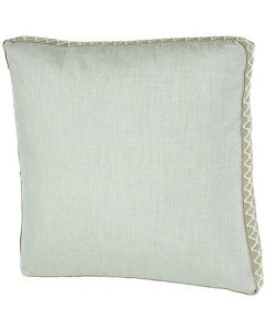 Silver with Bay Trim Outdoor Square Pillow in Gusset