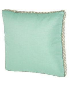Turquoise Outdoor Square Throw Pillow in Gusset