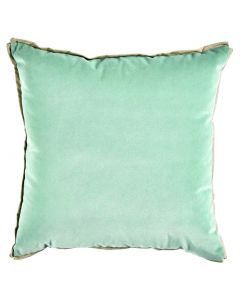 Velvet Shale with Danish Linen Flange and Butterfly Corners Throw Pillow