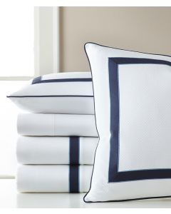 Lancaster Tape Applique Satin Stitched Edge Sheet Sets- Available in a Variety of Trim Colors and Sizes