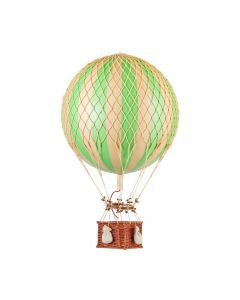 Large Green & Gold Striped Hot Air Balloon Model