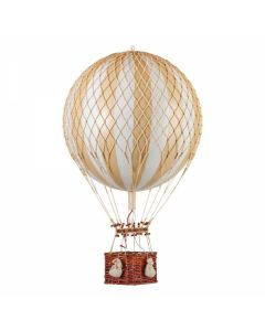 Large Ivory & Gold Striped Hot Air Balloon Model