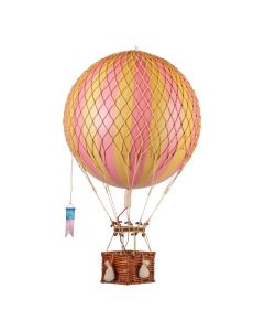 Large Pink & Gold Striped Hot Air Balloon Model