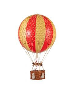 Large Red & Gold Striped Hot Air Balloon Model