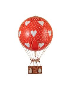 Large Red With White Hearts Hot Air Balloon Model