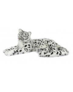 White and Black Snow Leopard Stuffed Animal Toy for Kids