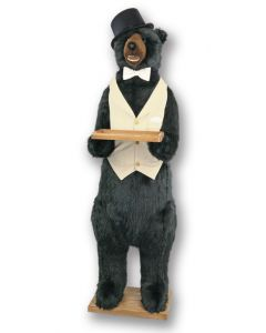 Standing Life Size Butler Party Bear Wearing A White Tuxedo