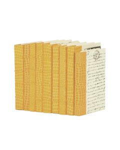 Linear Foot of Croc Faux Natural Decorative Books