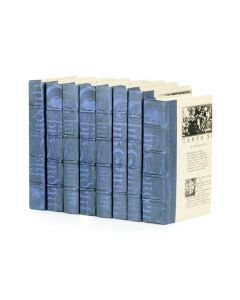 Linear Foot of Mod Periwinkle Washed Decorative Books