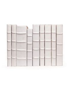 Linear Foot of Solid White Decorative Books