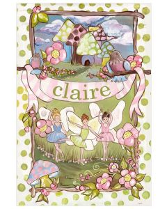 Enchanted Forest Fairy Canvas Wall Art for Kids With Optional Personalization