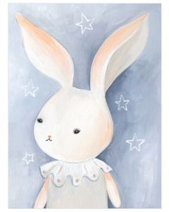 Bunny in the Stars Canvas Wall Art for Kids