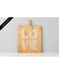 Love Charcuterie Cutting Board in White - PREORDER: SHIPMENT IN MARCH