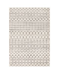 Woven Diamond Trellis Design Rug in Khaki and Grey - Available in a Variety of Sizes