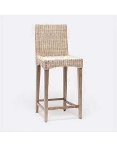 Made Goods Mallory Wicker Counter Stool with Square Back