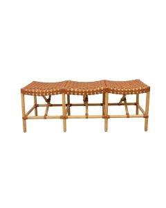 Malibu Bench in Brown Leather