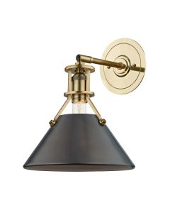 Mark D. Sikes for Hudson Valley Lighting Metal No. 2 Aged/Antique Distressed Bronze One Light Wall Sconce - ON BACKORDER UNTIL MID JULY 2021