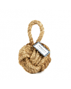 Set of Four Marseille Knot Nautical Jute Door Stoppers - ON BACKORDER UNTIL JULY 2021