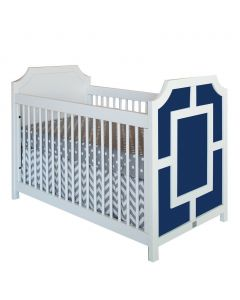 Modern Panel Crib With Geometrical Mouldings - Available in a Variety of Colors