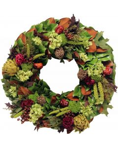 Merlot Valley Fall Wreath - Nice for Thanksgiving!