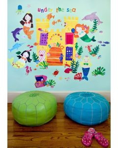 Under the Sea Mermaids Decal Cut-Out Wall Art for Kids